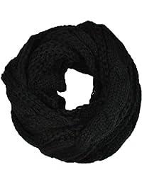 Femme écharpe Tube Echarpes tricotées foulard Cercle Tubulaire Écharpe en  Grosse Maille Chaude Automne-Hiver b364261acfe