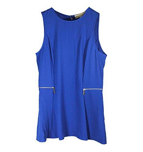 Nuova collezione Camicie Donna MICHAEL KORS pre smanicata, scollo tondo, chiusura con zip sul retro, zip ai lati, tinta unita