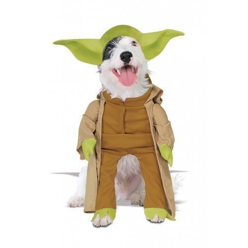 tier Hund Katze Star Wars Yoda Halloween Kostüm Kleid Outfit S-XL - Medium (Yoda Halloween-kostüme)