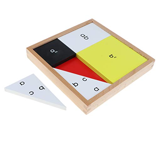 KESOTO Juguete Montessori Caja de Teorema de Pitágoras de Madera Juego de Educación Escolar para Niños Niñas