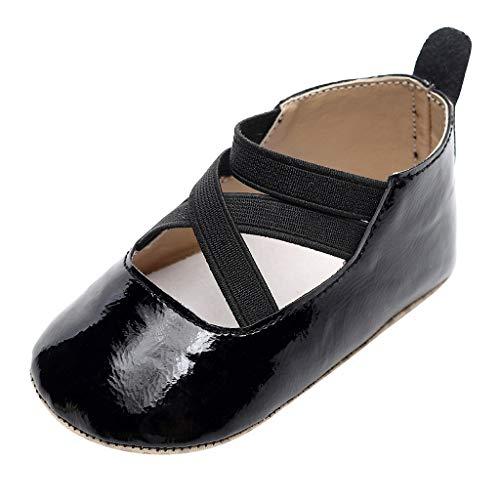 Zapatos De Bebé NiñAs NiñOs Zapatos De EláSticos con Velcro Zapatos Planos De Princesa Chicas Zapatos...