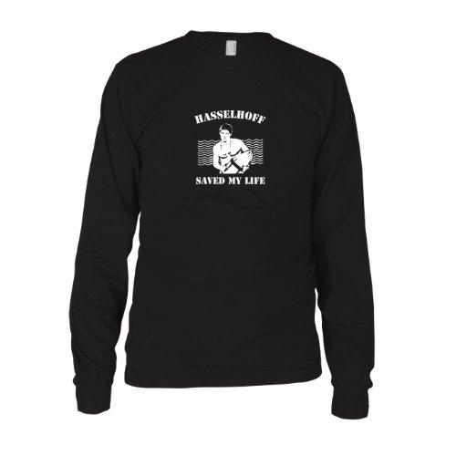 Hasselhoff saved my Life - Herren Langarm T-Shirt Schwarz