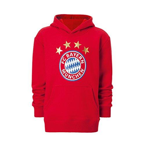 Kleinkind Fußball Jersey (FC Bayern München - Hoodie Logo rot Kleinkinder Gr. 116 - auch mit Deinem Namen oder Nummer möglich - über die Option Anpassung)