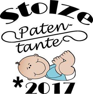 Mister Merchandise Ladies Damen Frauen T-Shirt Patentante - 2017 Tee Mädchen bedruckt Rot