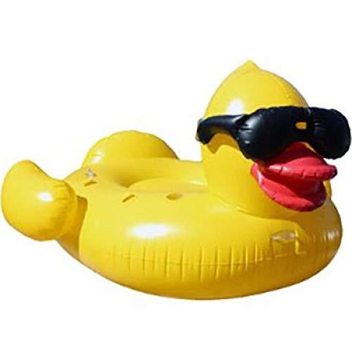 Lyjfzkjgs grandi occhiali da sole giganti gonfiabili jumbo giallo anatra su scivolo rideable divertimento estivo lettini in piscina giocattolo per adulti con valvole rapide,car air pump