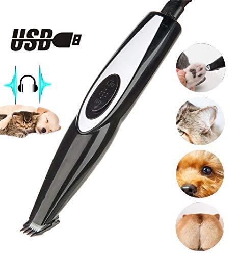 lovecabin Schermaschine Hund, Tierhaarschneider Für Hunde Und Katze, Leise Wasserdicht USB Wiederaufladbar, Für Pfoten Gesicht Augen