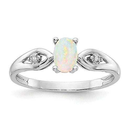 Jewels By Lux  -  14 Kt  Weißgold Ovalschliff Rundschliff    Opale  (Lux Ringe)