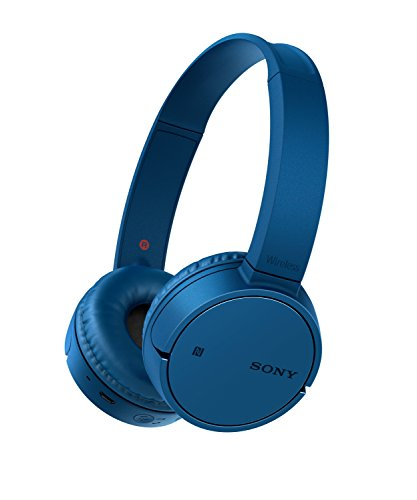 Sony WH-CH500 Wireless Bluetooth NFC On-Ear Headphones with 20 hours Battery Life - Blue