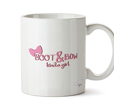 HippoWarehouse Boot and bow kinda girl 10oz Mug Cup