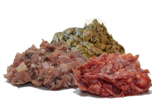 """Barfbox """"Bunte Kiste"""" - 10kg Barf für Hunde / Hundefutter / Katzenfutter / Frostfutter / Frostfleisch / Barf Paket / Barffleisch / Frisches Futter / Frischfutter /Blättermagen / Pansen / Kehlfleisch"""