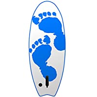 "Two Bare Feet 47"" (119cm) XPE Slick Mini Surfboard Bodyboard Funboard with Single Fin (Blue Surf Crew)"