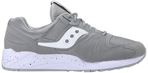 Saucony Herren Grid 9000 Low-Top Grau (Grey/White)