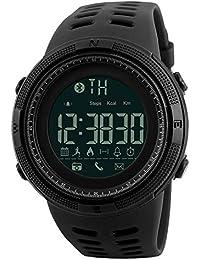 Herren Digital Armbanduhr, Sport Wasserdicht Armbanduhr Military Casual Elektronischer Uhren mit Alarm Kalender Stoppuhr - Schwarz