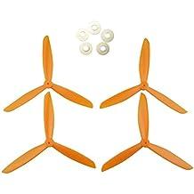 Sharplace Kit de 4 Piezas de Reemplazo de Hélice para Syma X8w X8g X8hc X8hw RC Aviones no Tripulados - Naranja