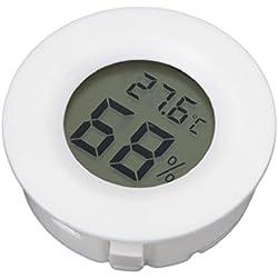 Lunji Thermo-hygromètre électronique Portable, Thermomètre Hygromètre sans Fil, Comprend 1 Batterie AG13, 45×14mm