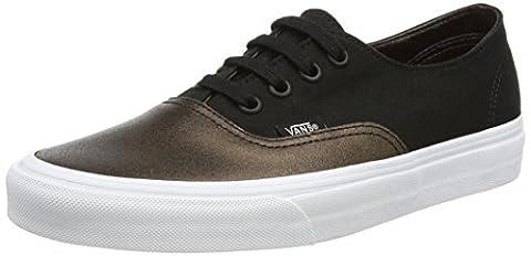 Vans Damen Ua Authentic Decon Sneakers, Schwarz (Metallic Canvas Black), 37 EU