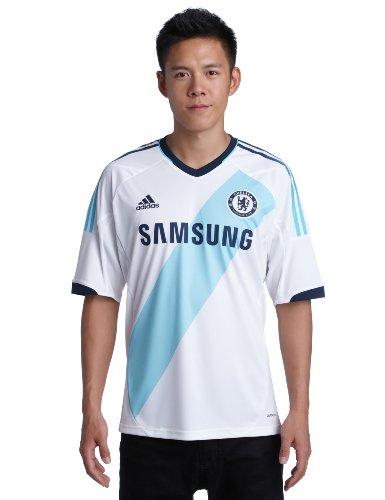 adidas Herren Trikot CFC Away, white/light aqua, XL, X24266 (Adidas Chelsea Replica Away Trikot)