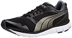 Puma Mens Poseidon Black and Turbulence Mesh Running Shoes - 6 UK/India (39 EU)