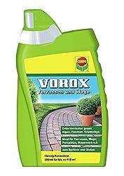 VOROX Terrassen und Wege, Grünvernichter, Flüssig-Konzentrat, 500 ml, 115 m²