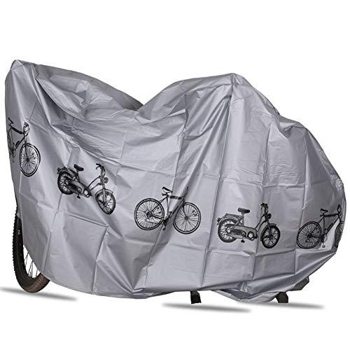 Meng Mountainbike Fahrrad Abdeckung Auto Abdeckung Regen Und Sonnenschutzstaub 26 Zoll Fahrrad Dicke Abdeckung Tuch,Silver