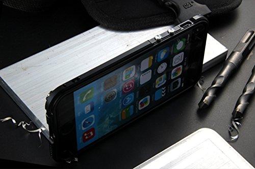 """iPhone 6 / 6S 4.7"""" Coque ,SHANGRUN Aluminium Metal Frame Bumper Coque + Transparent PC Matériel Protictive Couvercle housse Etui Protection Case pour iPhone 6 / 6S 4.7"""" Bleu Noir"""
