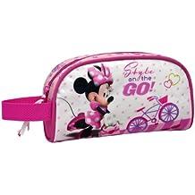 Disney estuche para lápices con cierre para niñas niños mujer neceser (Minnie Mouse)