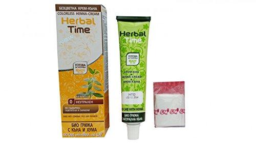 Herbal Henna Haar (Herbal Time Henna Creme keine Farbe ohne Ammoniak Haarmaske aus Naturstoffen)