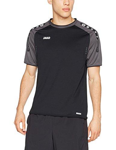 JAKO Herren T-Shirt Champ, schwarz/anthrazit, XXL
