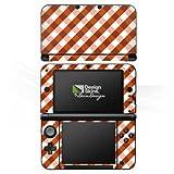 DeinDesign Nintendo 3 DS XL Case Skin Sticker aus Vinyl-Folie Aufkleber Karo Muster Braun