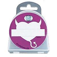 BAY® LANY-CASE HERZ mit Name-Freifeld für WUNSCHNAME mit Oese für Zahnschutz Zahnspange usw. BOX Dose Hygienebox Aufbewahrungsbox Zahnschutzbox Zahnschutzdose klar durchsichtig transparent Mundschutz groß Mundschützer Zahnschützer Einhängeöse Öse