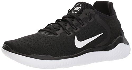 Nike WMNS NIKE FREE RN 2018, Damen Laufschuhe, Schwarz (Black/White 001), 41 EU (7 UK)