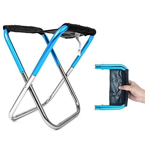 Chaise Pliante d'extérieur Pliable en Alliage d'aluminium Oxford en Tissu léger Robuste et Pliable pour Le Camping, Les Voyages, la pêche, Le Jardin, Les barbecues Bleu