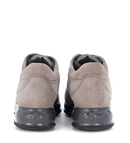 Sneaker Hogan Interactive in camoscio grigio tortora Grigio