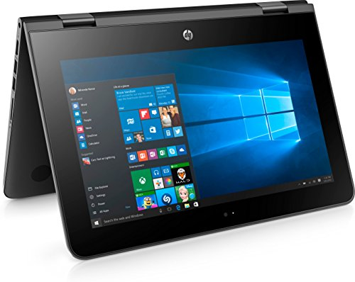 HP Pavilion X360 11-AB005TU Laptop (Windows 10, 4GB RAM, 500GB HDD) Jet Black Price in India