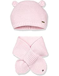 Tommy Hilfiger Baby-Mädchen Mütze Hat and Scarf Girl Set, Rosa (Ballerina 612), One size