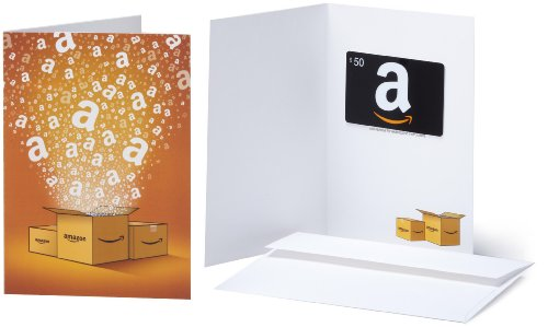 Amazon.com Gift Card with Greeting Card - $50 (Classic)