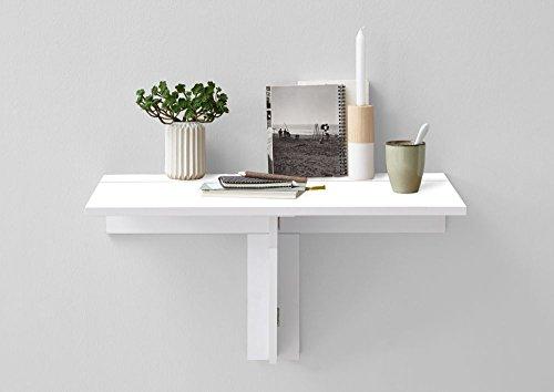 Klapptisch 'Luke', Brilliantweiß, Küchenklapptisch, Flurklapptisch, 80 x 44 x 51 cm, Esszimmerklapptisch