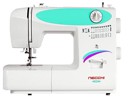 Necchi n83 macchina per cucire automatica, plastica, bianco, 38 x 30 x 17 cm