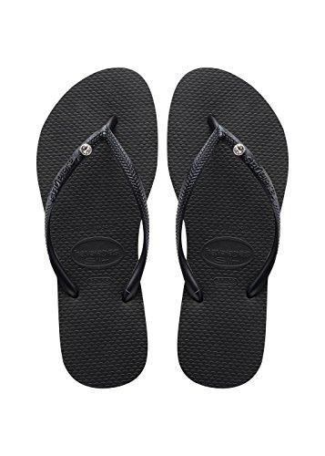 flip flops damen schwarz Havaianas Damen Havaianas Slim Crystal Glamour Sw Zehentrenner Flip-Flops, Schwarz 0090, 39/40 EU ( 37/38 Brazilian)