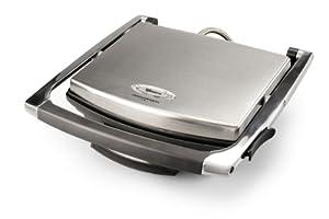Termozeta 73870 Professional Grill Deluxe - Plancha eléctrica de cocina con tapa, acero de Termozeta