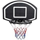 Fashworld Basketball Net with Ring (Black and Multicolour)