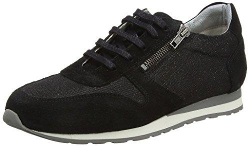 Brax Damen Schnürschuhe Damen Sneakers Schwarz (012 camoscio nero)