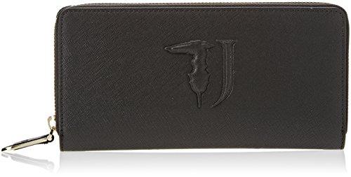 Trussardi Jeans Damen Ischia Around Geldbörse, Schwarz (Black P17), 21x10x3 centimeters (Jean-geldbörsen-beutel)