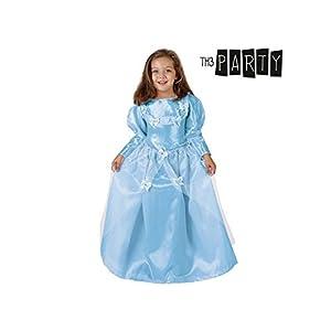 Atosa-7059 Disfraz Princesa, Color celeste, 3 a 4 años (8.42E+12)