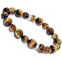 Bracelet Tiger Eye 10MM + 8 MM Birthstone Handmade Healing Power Crystal Beads preisvergleich bei billige-tabletten.eu