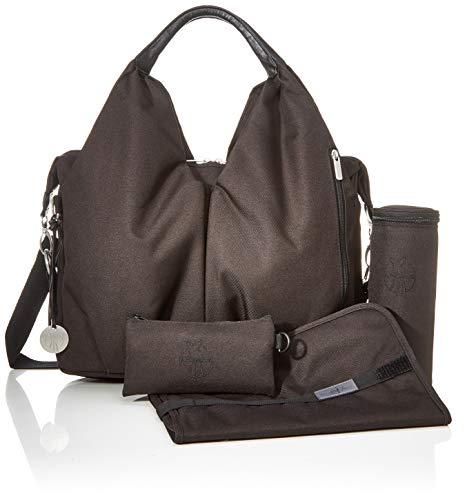 Lässig Green Label Neckline Bag Wickeltasche/Babytasche inkl. Wickelzubehör aus recyceltem Material, black - 6