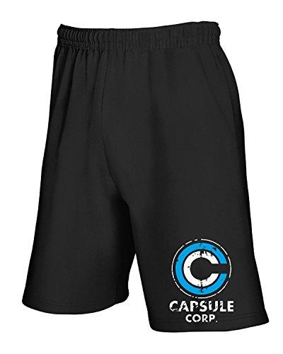 T-Shirtshock - Pantalone Tuta Corto TGAM0049 Logo capsule corp, Taglia M