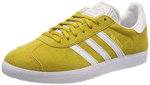 adidas Gazelle Scarpe da ginnastica Uomo, Giallo (Raw Ochre/Crystal White/Ftwr White Raw Ochre/Crystal White/Ftwr White), 42 2/3 EU (8.5 UK)