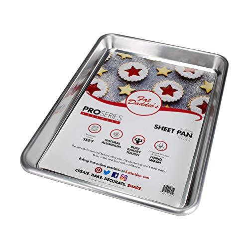 Fat Daddio's 18-Gauge Aluminum Quarter Sheet Pan by Fat Daddios 18 Gauge Sheet Pan