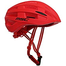 MSC Bikes HX109SMRD Casco, Rojo, S/M (55cm-58cm)